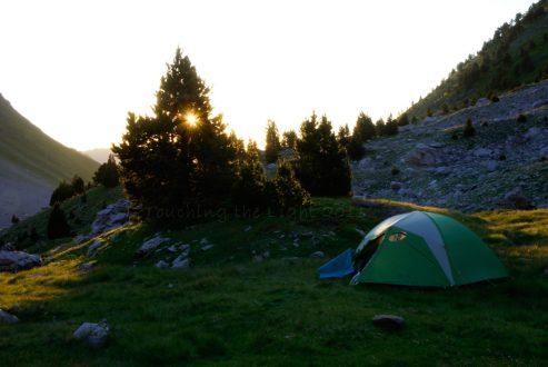 Bivouac at Les Sources du Marmitou, Basque Pyrenees