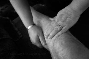 Massage on the injured shin