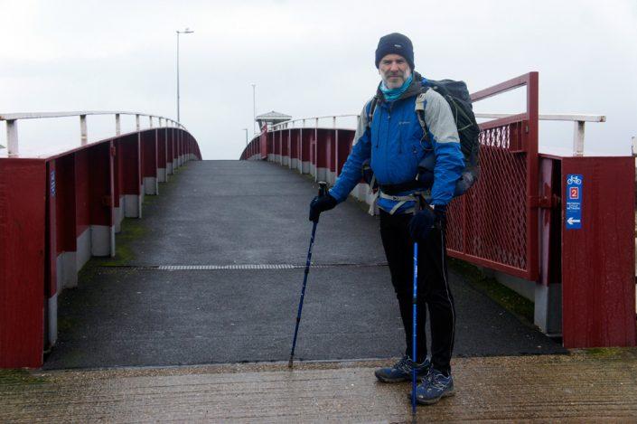 Day 2 - Ken, day 2 departure by Littlehampton footbridge
