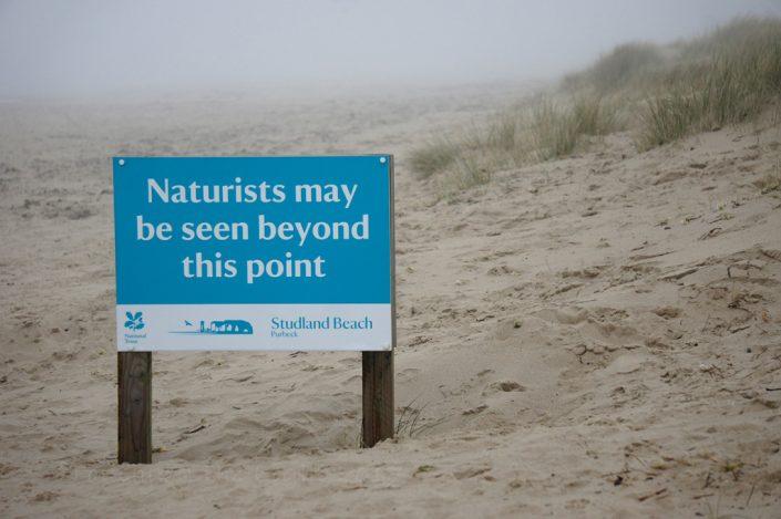 Day 9 - Naturist Beach sign, Studland