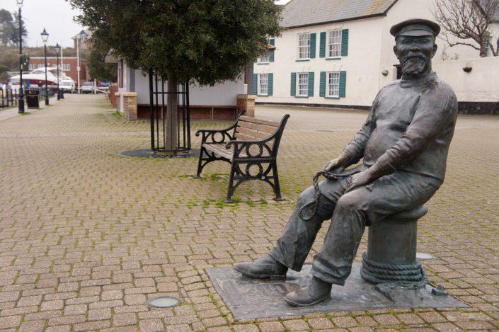 Seaman statue, Watchet harbour