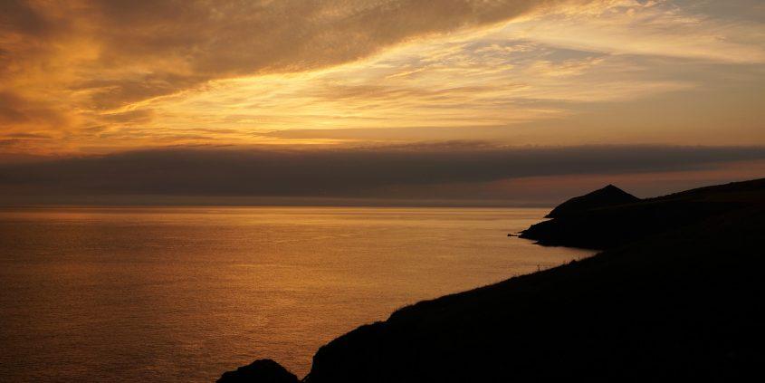Sunrise over Mwnt