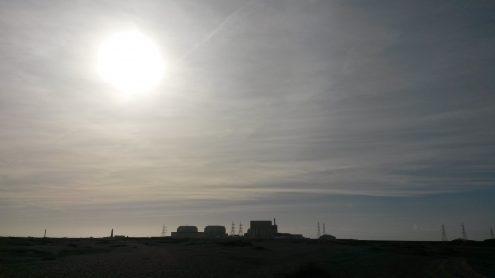 Across the Denge Flats desert, Dungeness