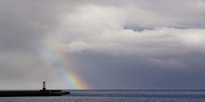 Rainbow and Jetty, Berwick upon Tweed