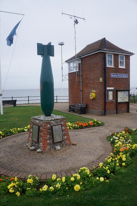 Coastwatch building and bomb, Mundesley