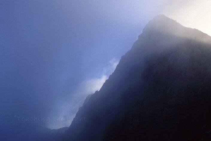 Cloud and light on Y Lliwedd, Snwodonia National Park