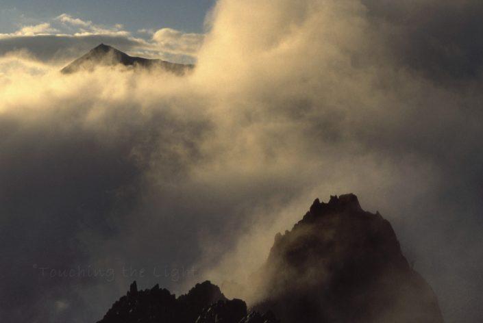 Yr Wyddfa summit and Crib Goch, Snowdonia National Park