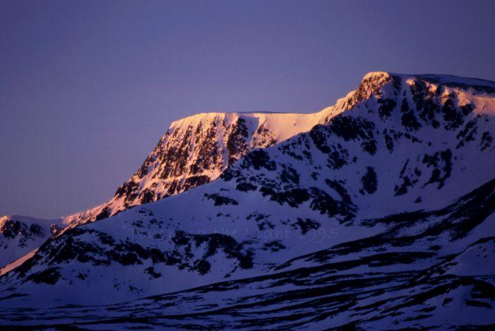 Dawn light on Ben Alder, Scottish Highlands