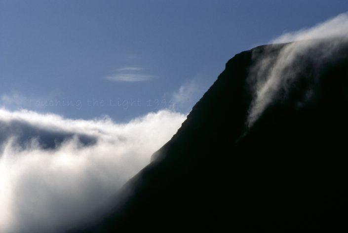 Cloudfall on Bannau Sir Gaer, Mynnydd Du, Wales