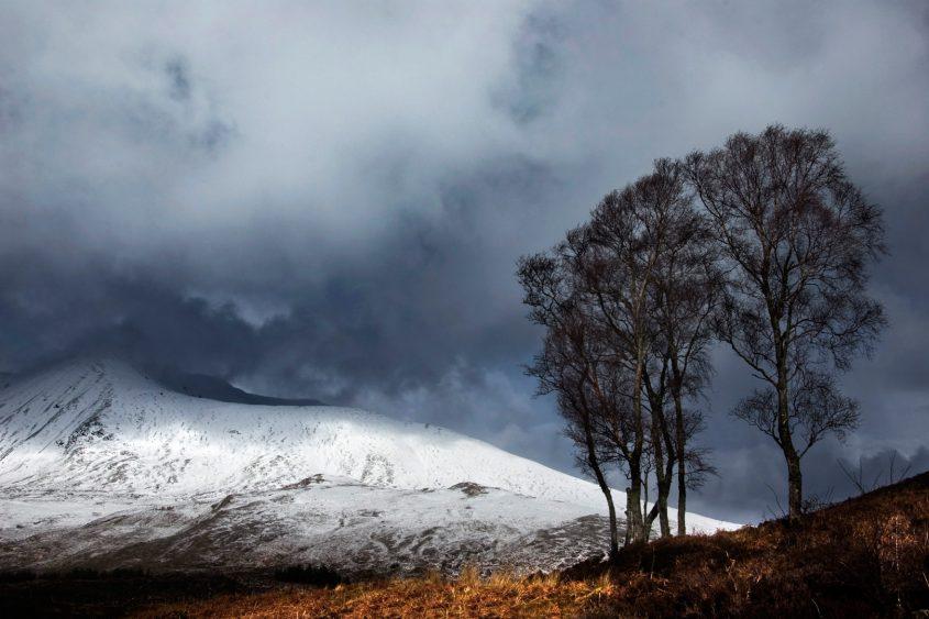 Beinn Eighe in winter from Loch Clair, Torridon, Scottish Highlands