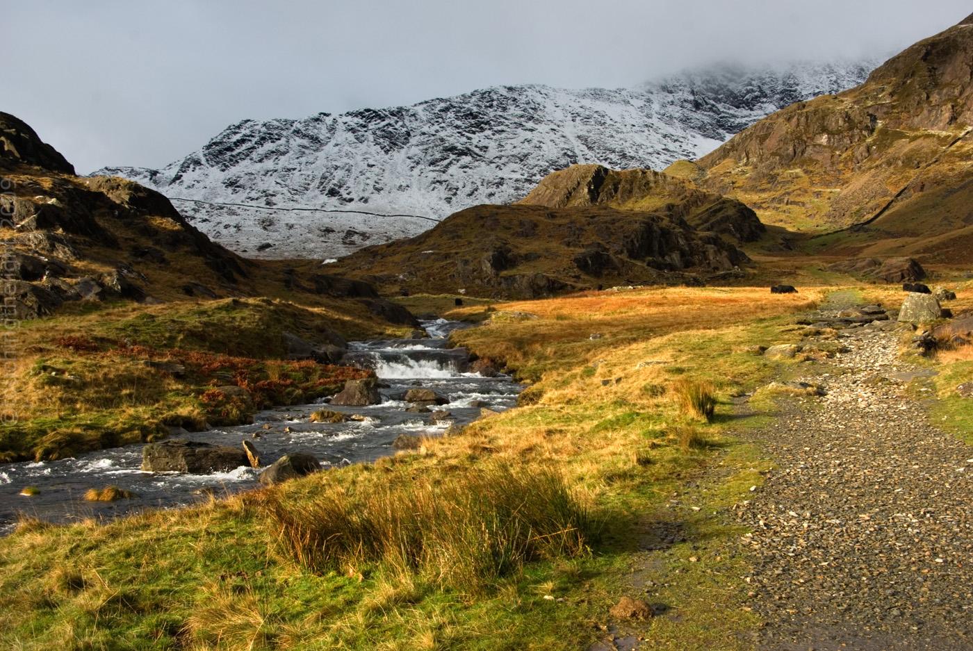 Cwm Llan towards Yr Wyddfa, Snowdonia National Park